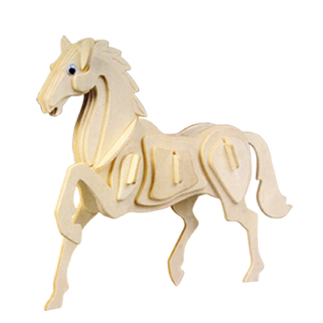 Educational Wooden 32-Piece Assemble Horse DIY Model Toy