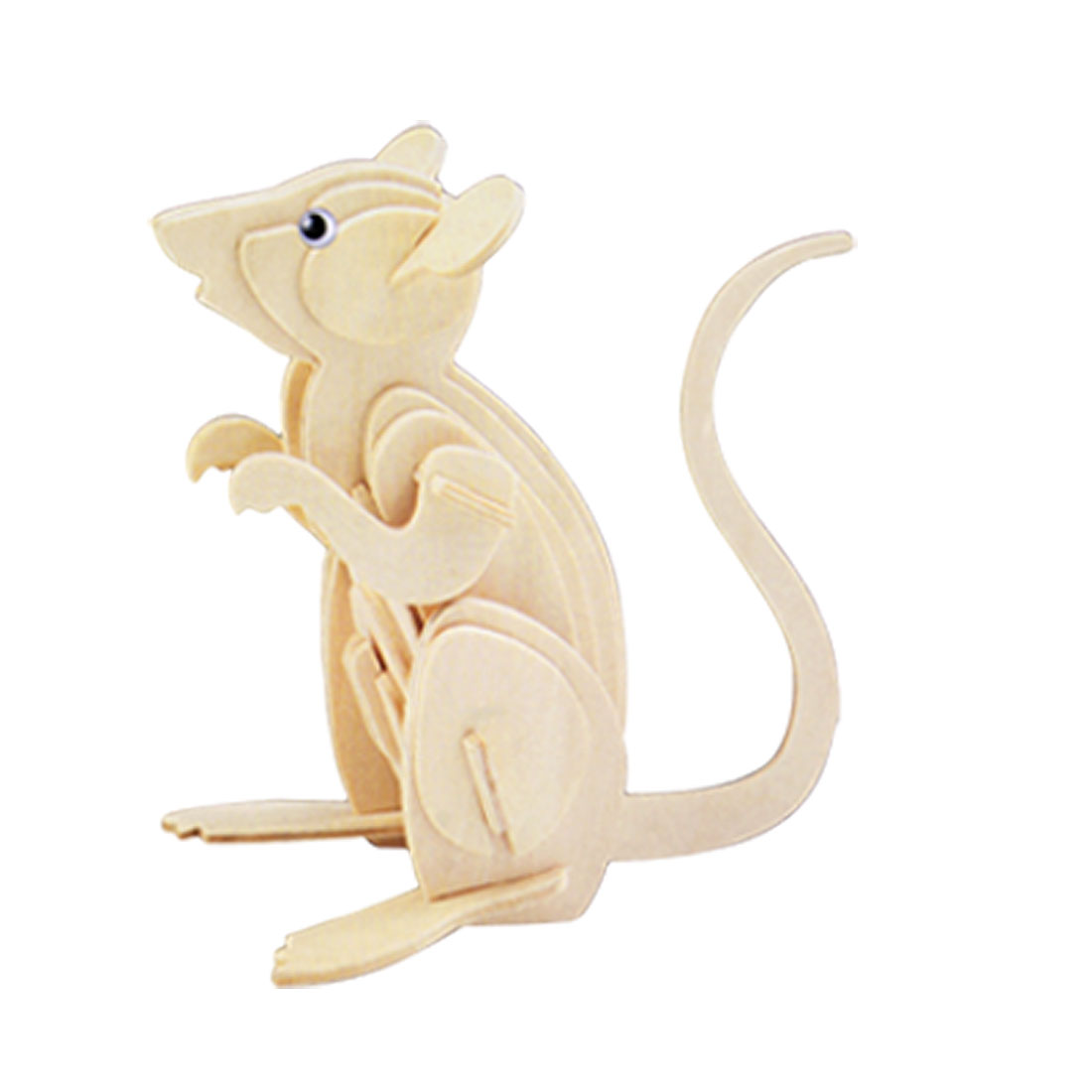 Woodcraft 3D Wooded Assemble Mouse Model DIY Puzzle Toy