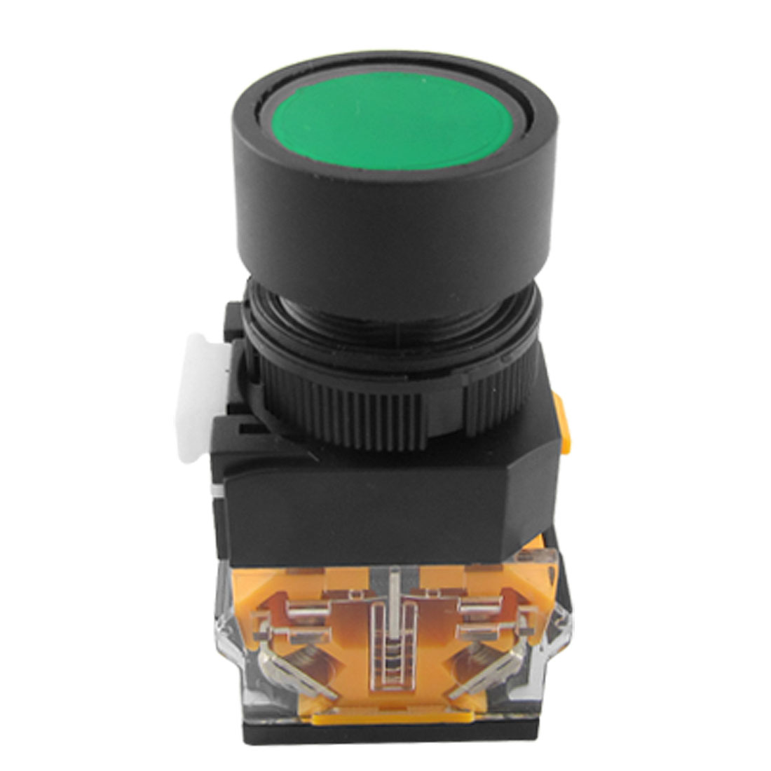 AC 660V 10A Green Sign Ignition Momentary Push Button Switch 22mm 1 N0 1 NC