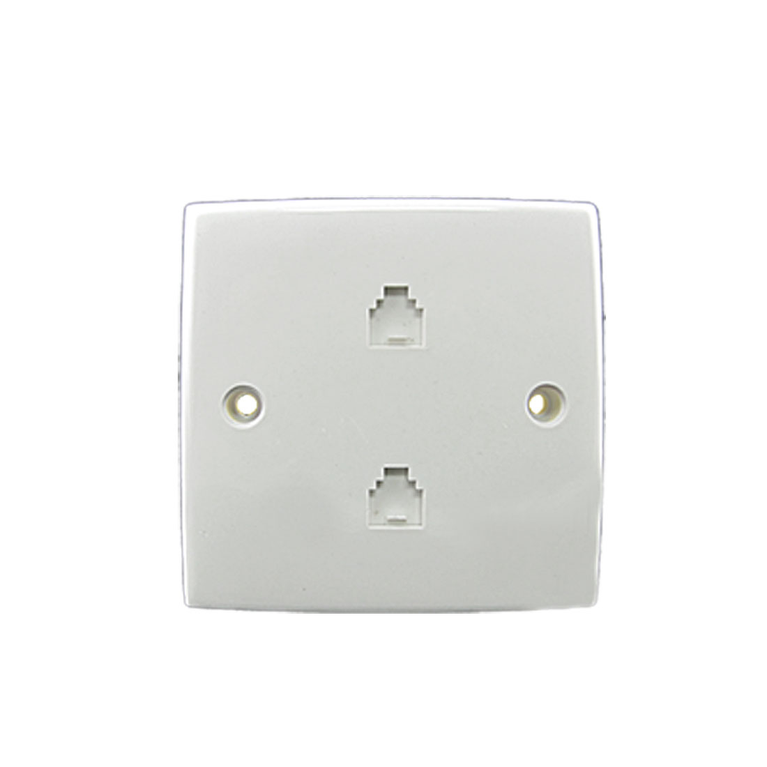 6P 4C RJ11 Telephone 2 Gang Outlet Socket Wall Plate Panel