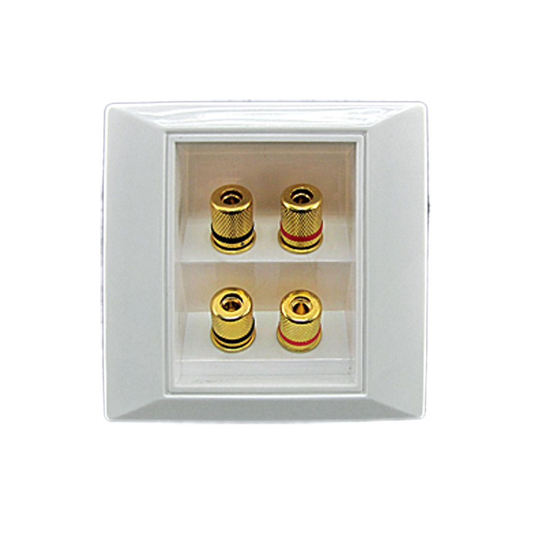 White Sqaure Audio Video Component 2 Speaker Wallplate