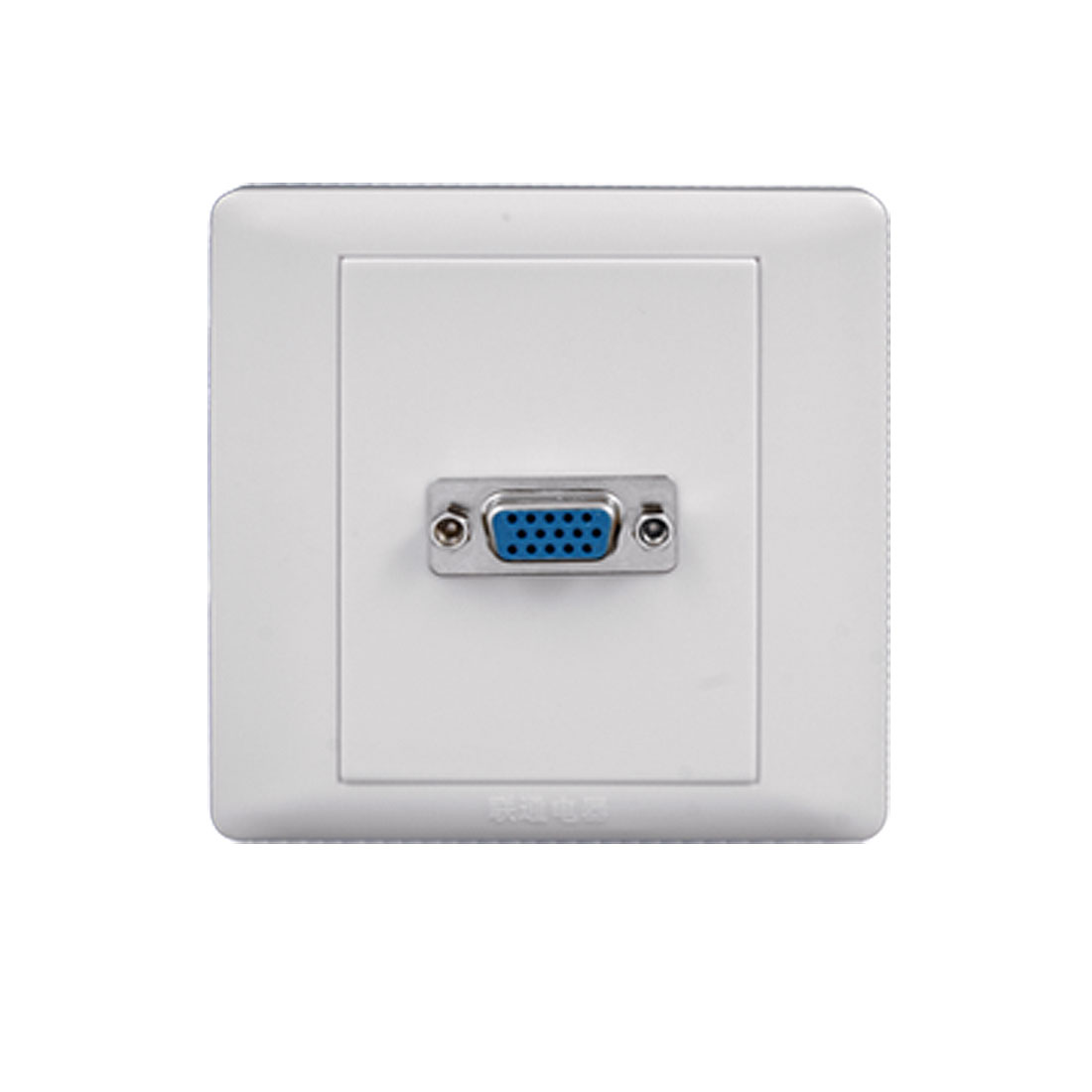 Wall Mounted White Square VGA Female Port Faceplate
