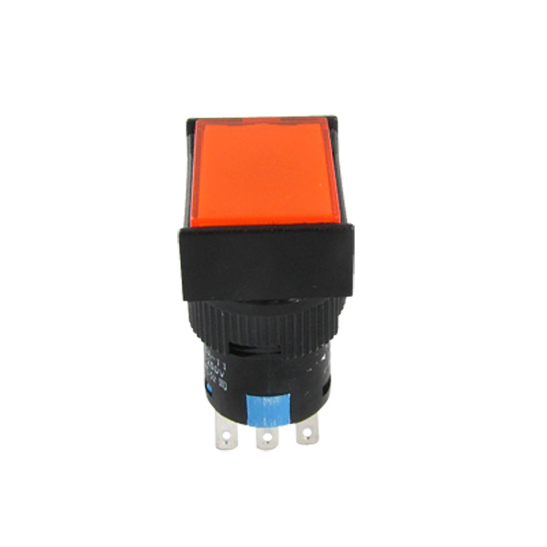 Rectangle Orange Button Black Push Switch Control 250V