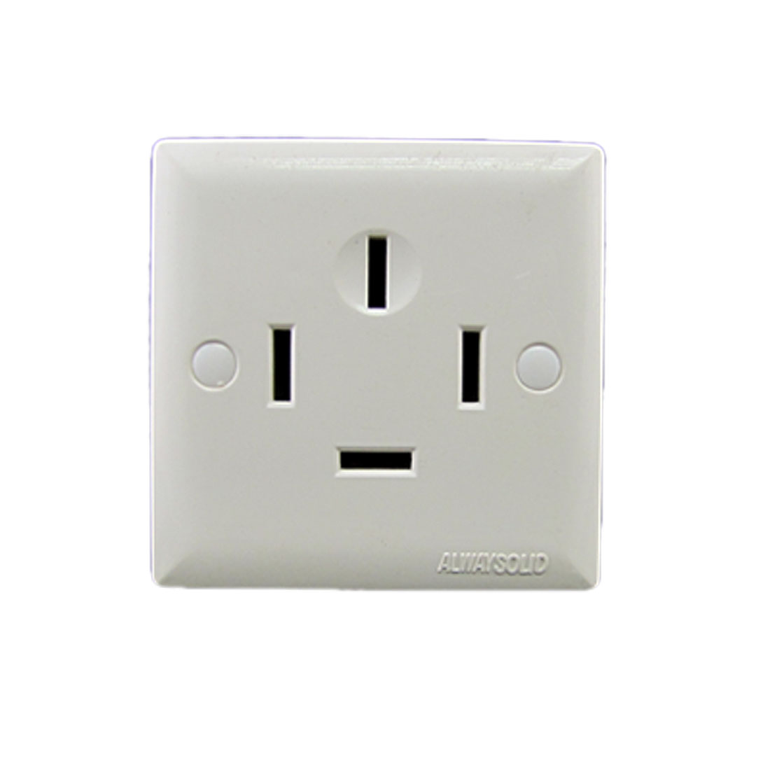 AC 380V 25A Three 3 Phase Four 4 Wire Wall Panel Power Socket Outlet White