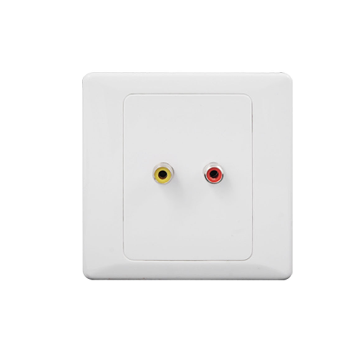 Video Audio RCA Female Port Double Socket Wall Plate