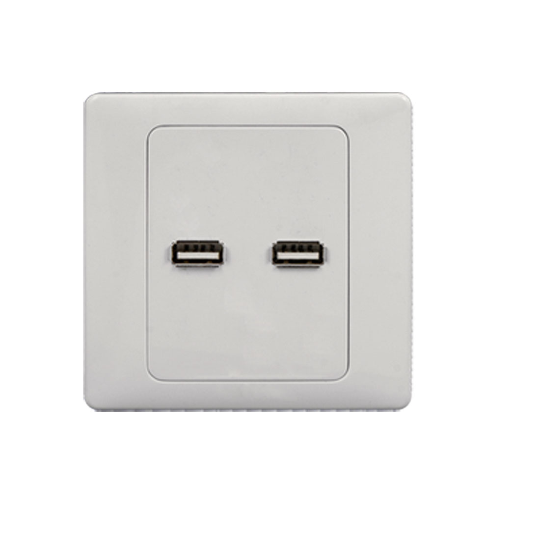 Dual Two USB Ports Wall Plate Coupler Outlet Socket Panel