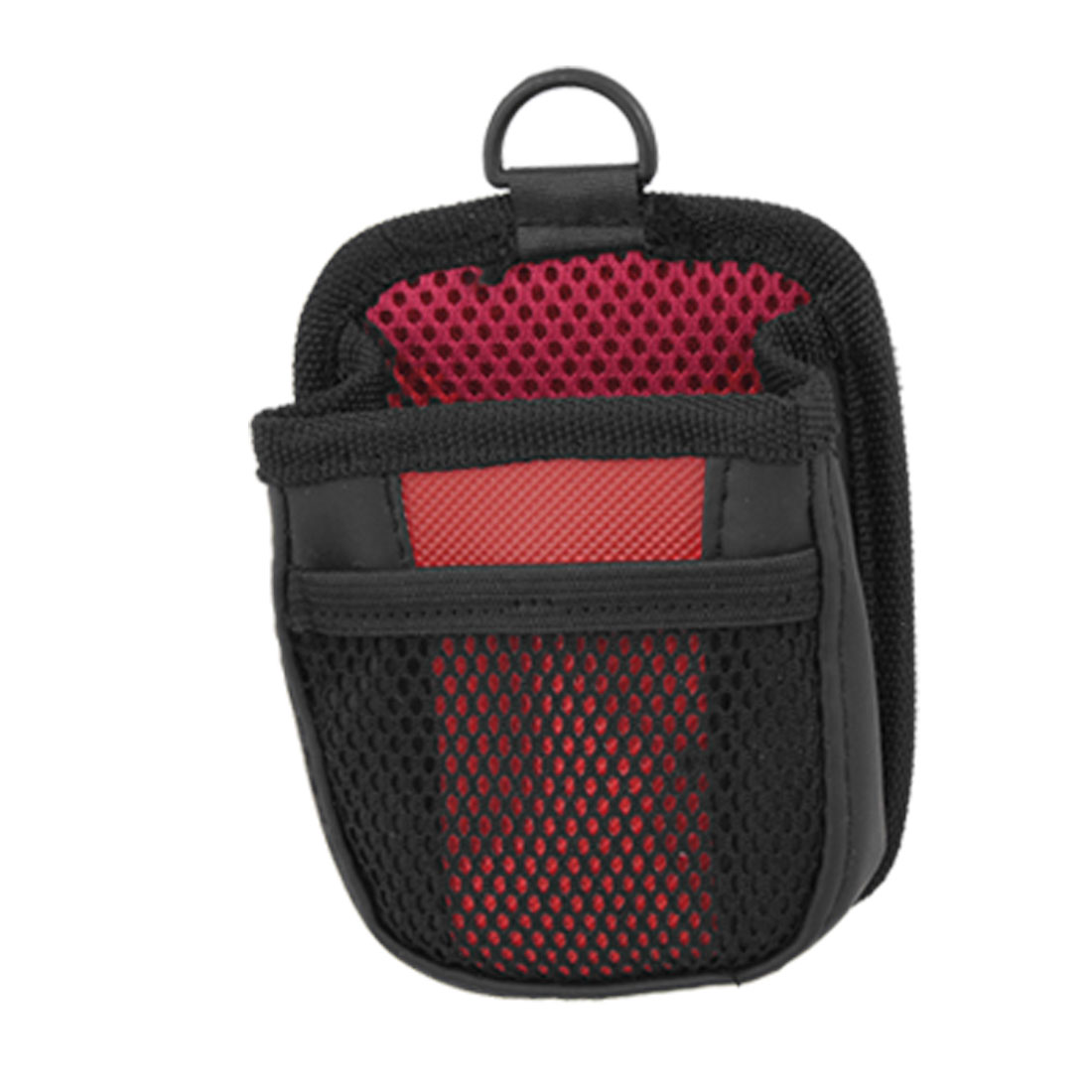 Car Auto Cell Phone Black Red Mesh Holder Pouch Bag