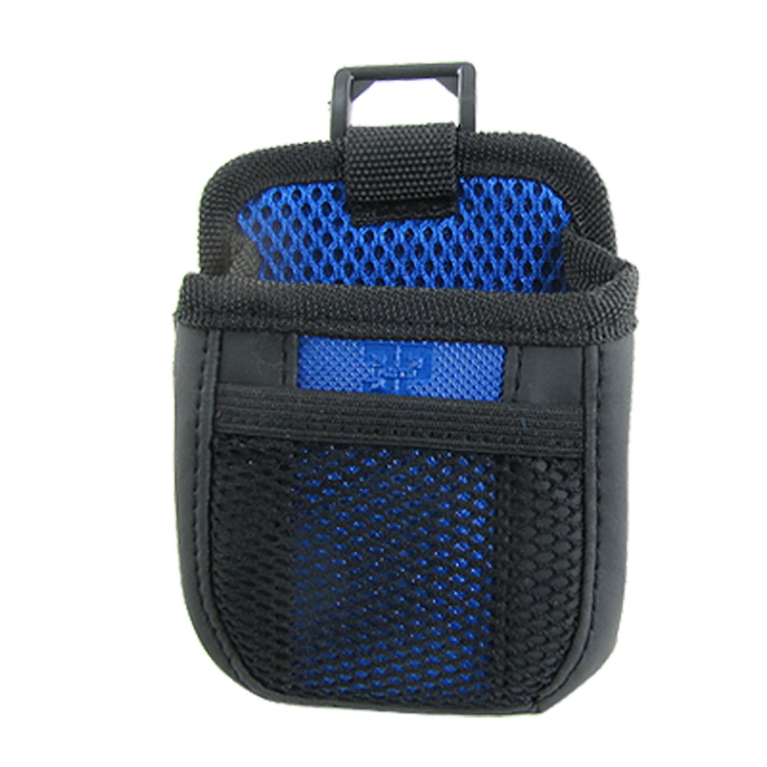Car Auto Mobile Phone Black Blue Mesh Holder Pouch Bag