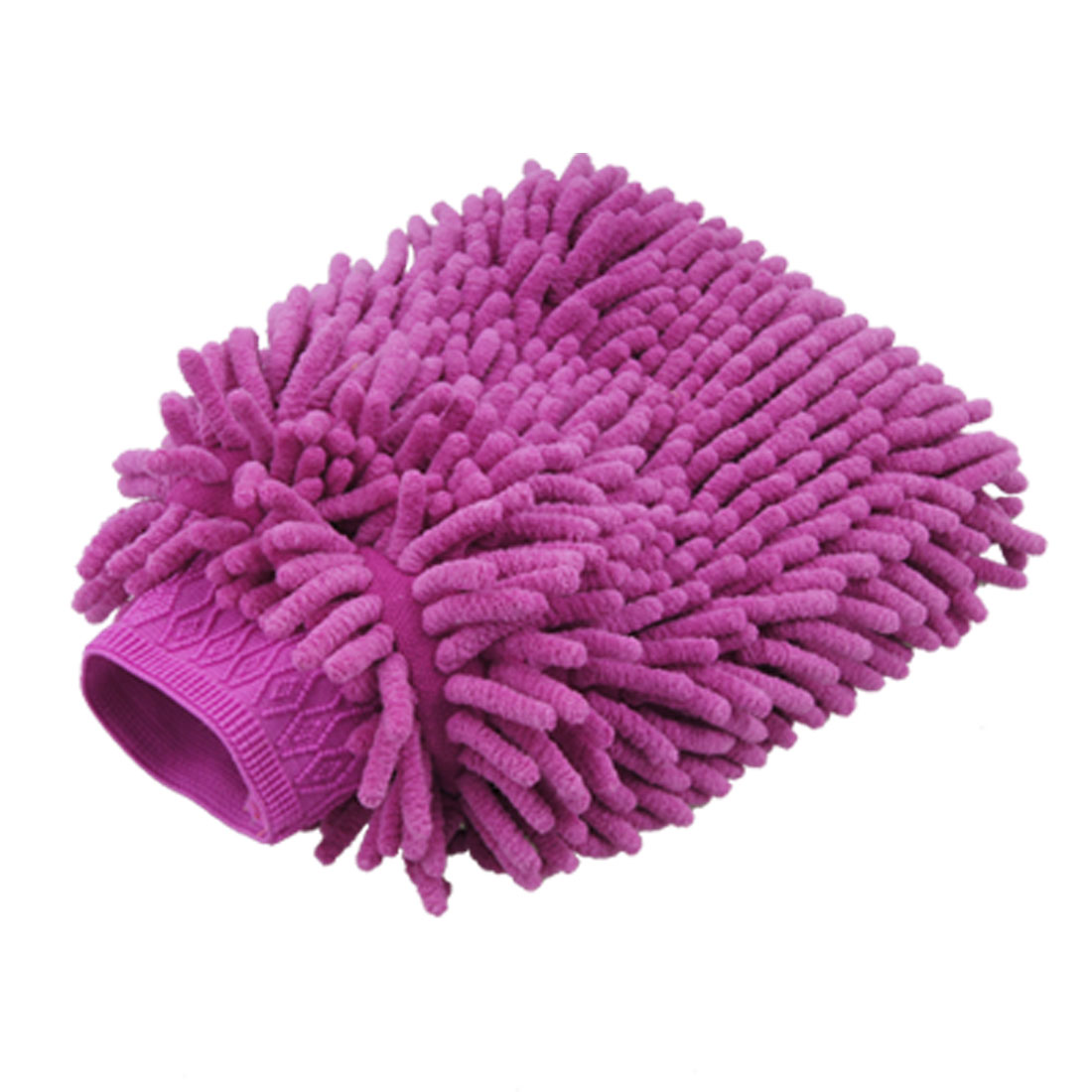 Car Auto Purple Microfiber Double Side Cleaning Glove