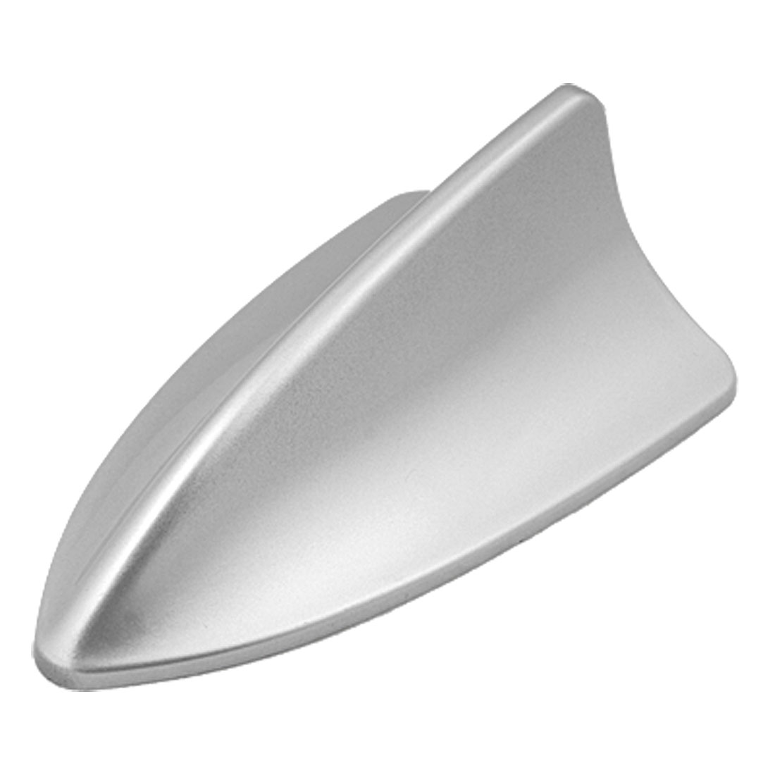 Car Roof Mounted Silver Tone Plastic Shark Fin Antenna Ornament