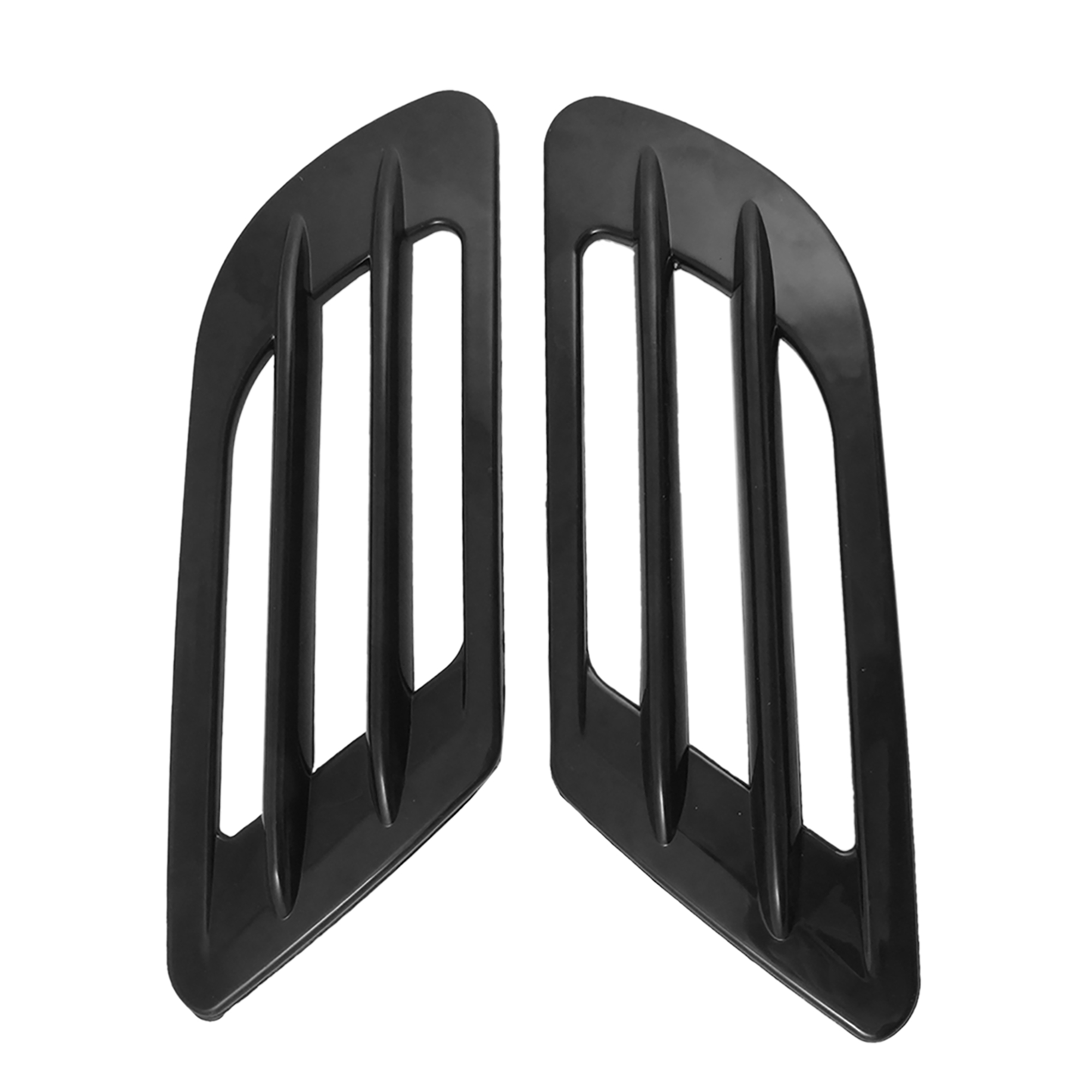 2PCS Black Universal Car Side Vent Air Flow Fender 3D Sticker Decor