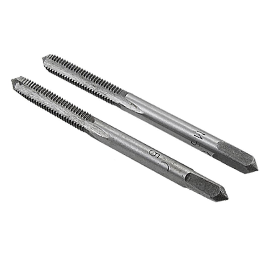 5mm Diameter Spiral Point Tap Spring Steel Taper Taps Pair