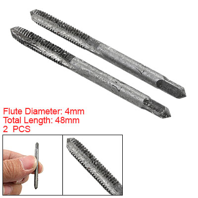 4mm Spiral Point Hand Taper Tap Spring Steel Drill Bit 2pcs