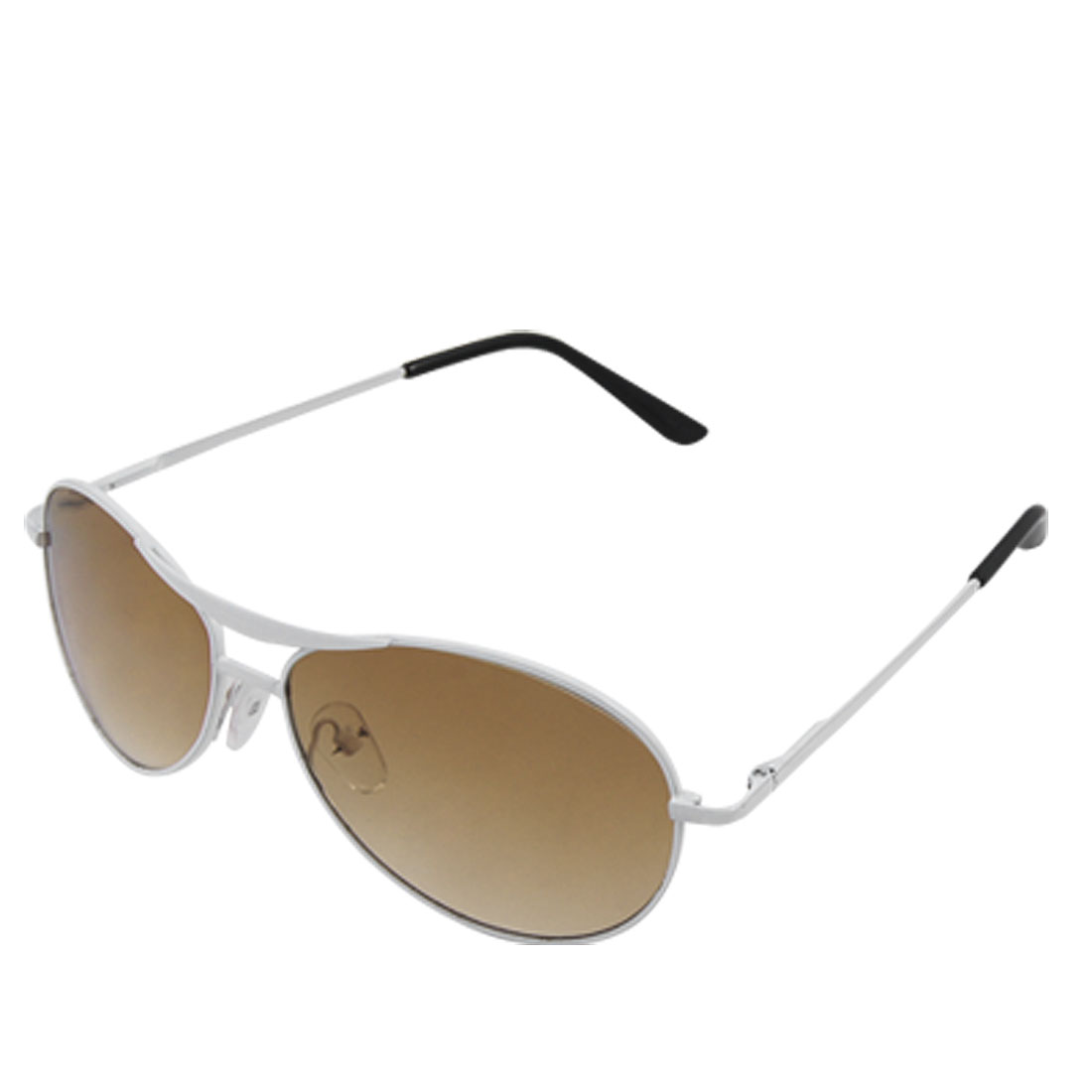 Oval Lens Metal White Full Frame Doule Bridge Child Sunglasses Eyewear
