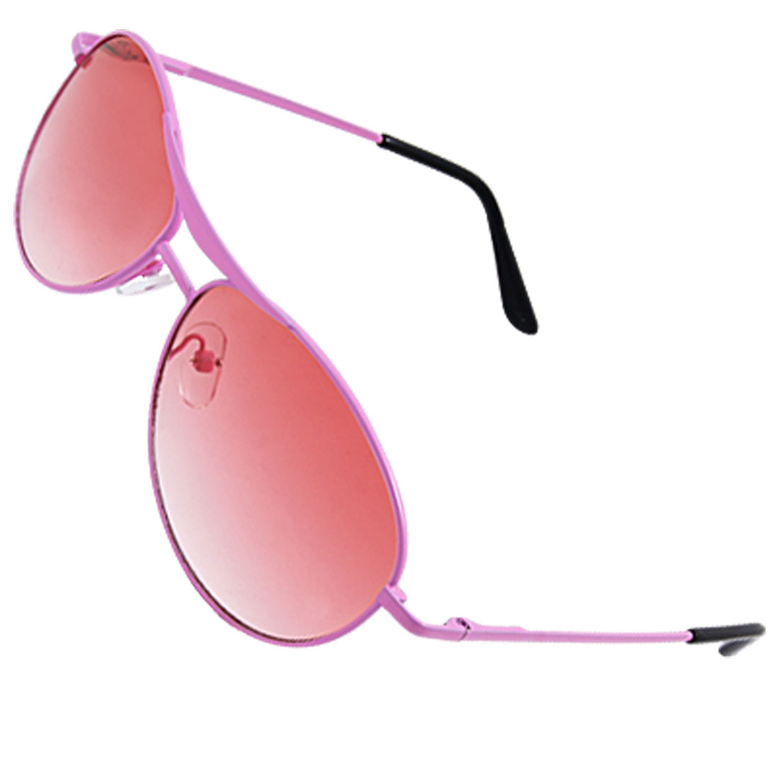 Children Eyewear Metal Pink Full Frame Oval Lens Sunglasses