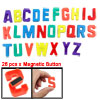 26 x English Letters Plastic Whiteboard Fridge Magnet Colored