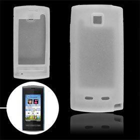 White Silicon Skin Case Shell for Nokia 5250