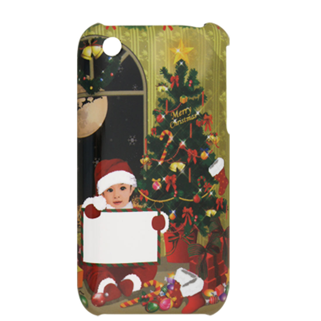 Christmas Tree Gift Plastic Back Cover for iPhone 3G