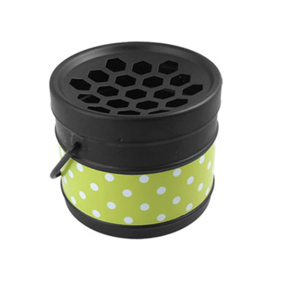 Black Green Portable Travel Dot Bucket Ashtray Desk Decor