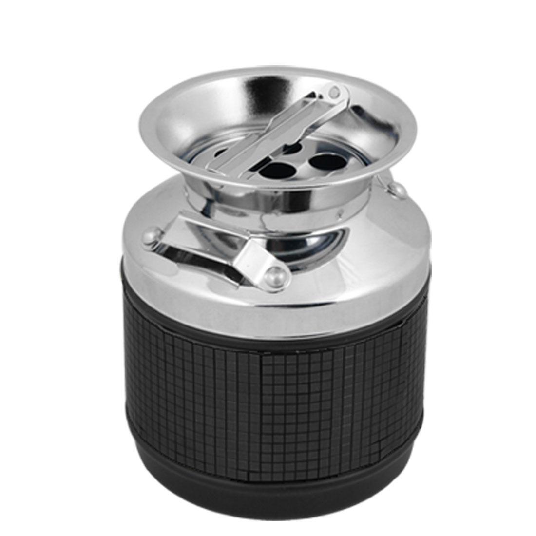 Black Checked Metal Oil Pot Cigarette Ashtray Ash Tray
