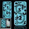 Blue Plastic Dragon Hole Design Back Case for iPhone 4 4G