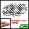 Replacement Parts 4mm Diameter 72 Pcs Bike Steel Ball Bearing