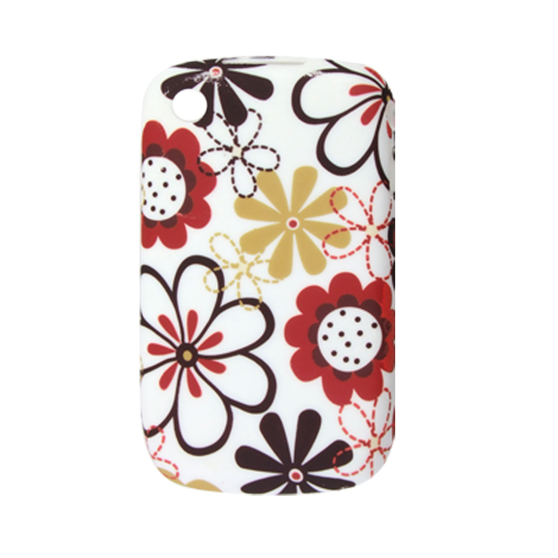 Colorful Flower Smooth Soft Plastic Case for Blackberry 8520