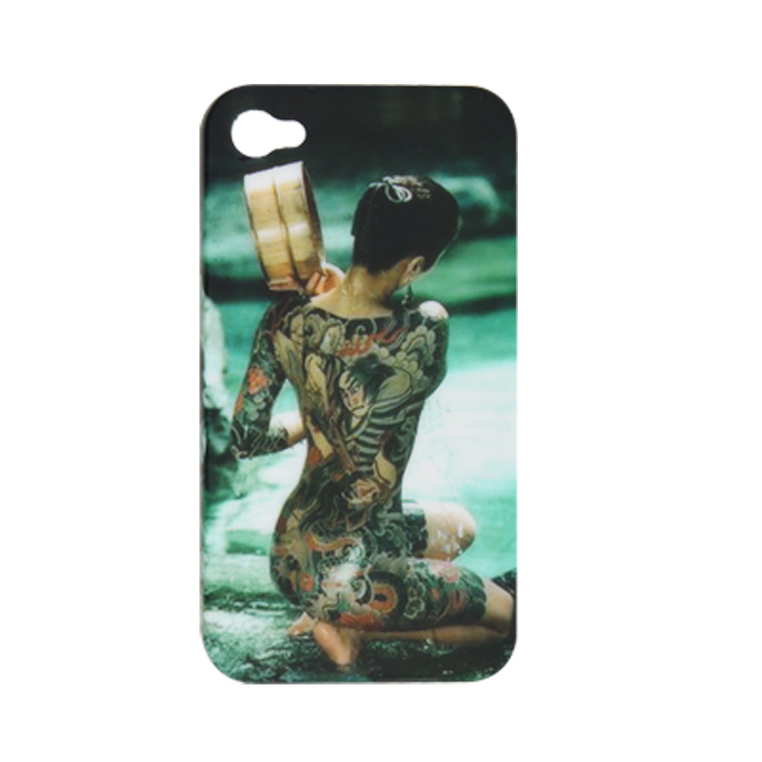 Tattoos Lady Rubberized Plastic Back Cover for iPhone 4 4G