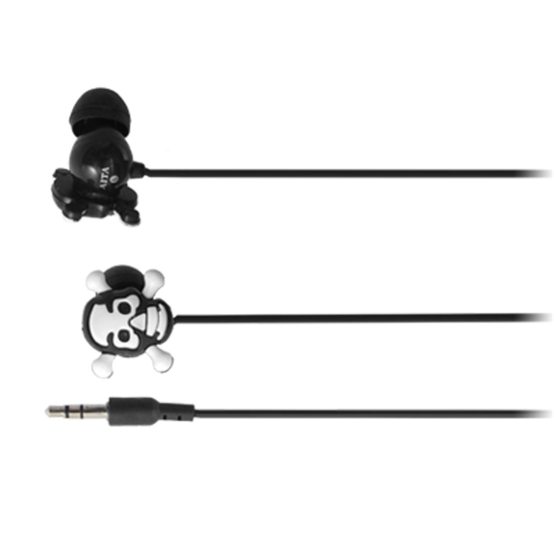 3.5mm in Ear Canal Headphone Cartoon Skull Earphone Black for MP3