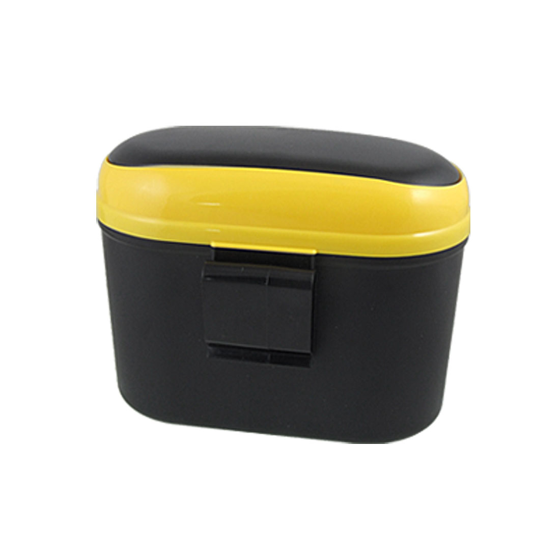 Car Auto Yellow Black 2-Way Open Trash Can Garbage Bin