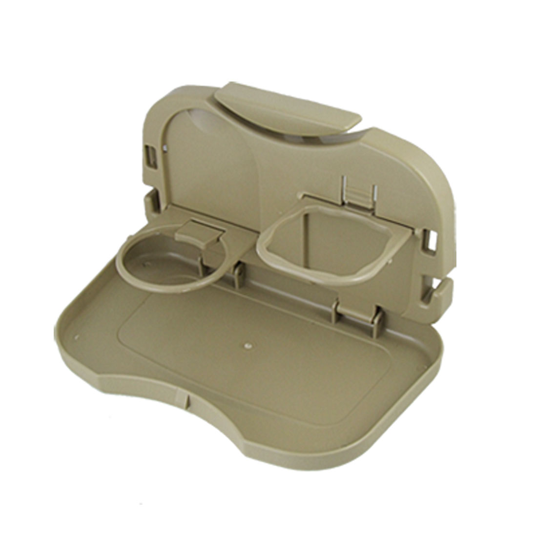Car Back Seat Food Drink Cup Holder Folding Tray Khaki