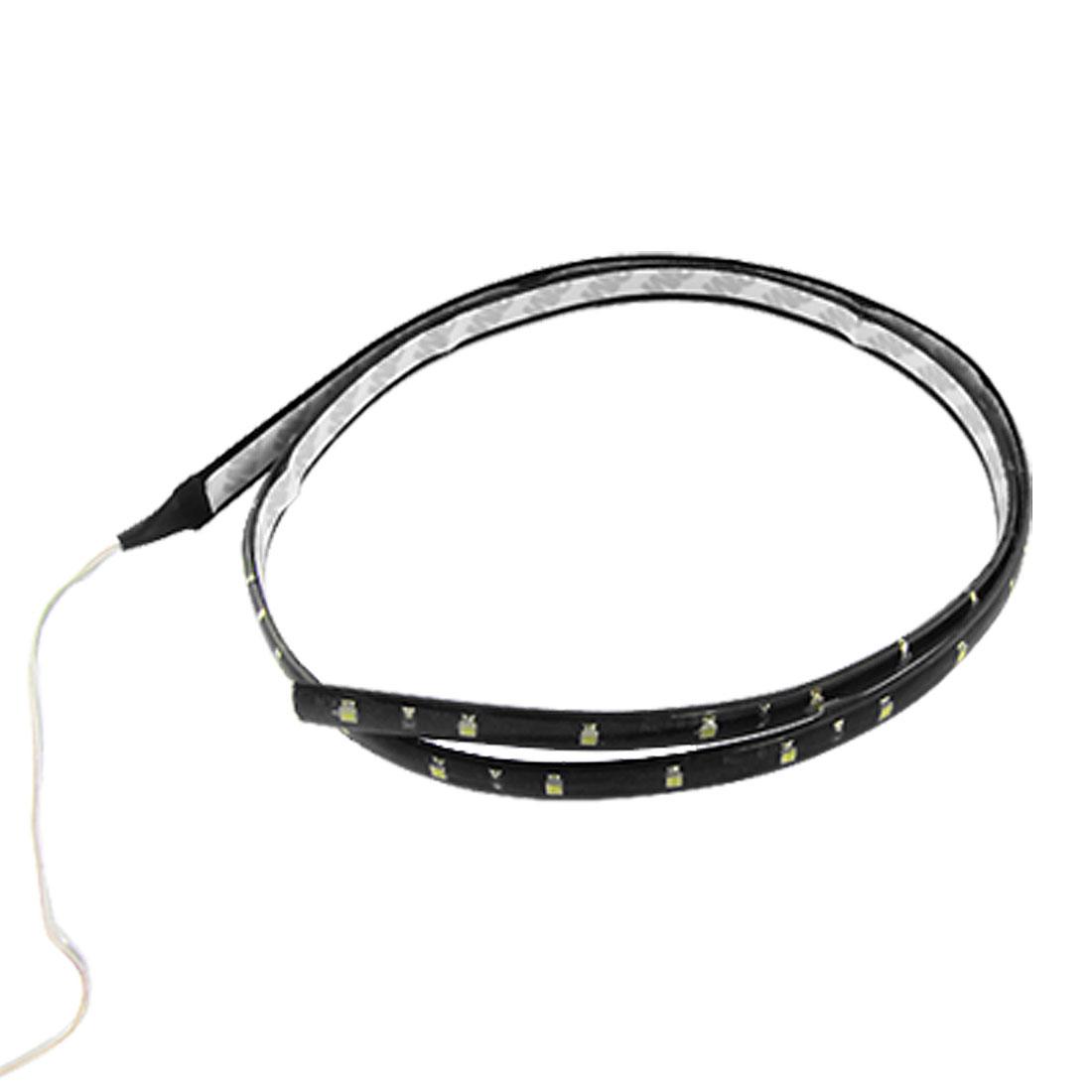 "Auto Car Exterior Flexible White 45 LED Strip Light Lamp 35.4"""