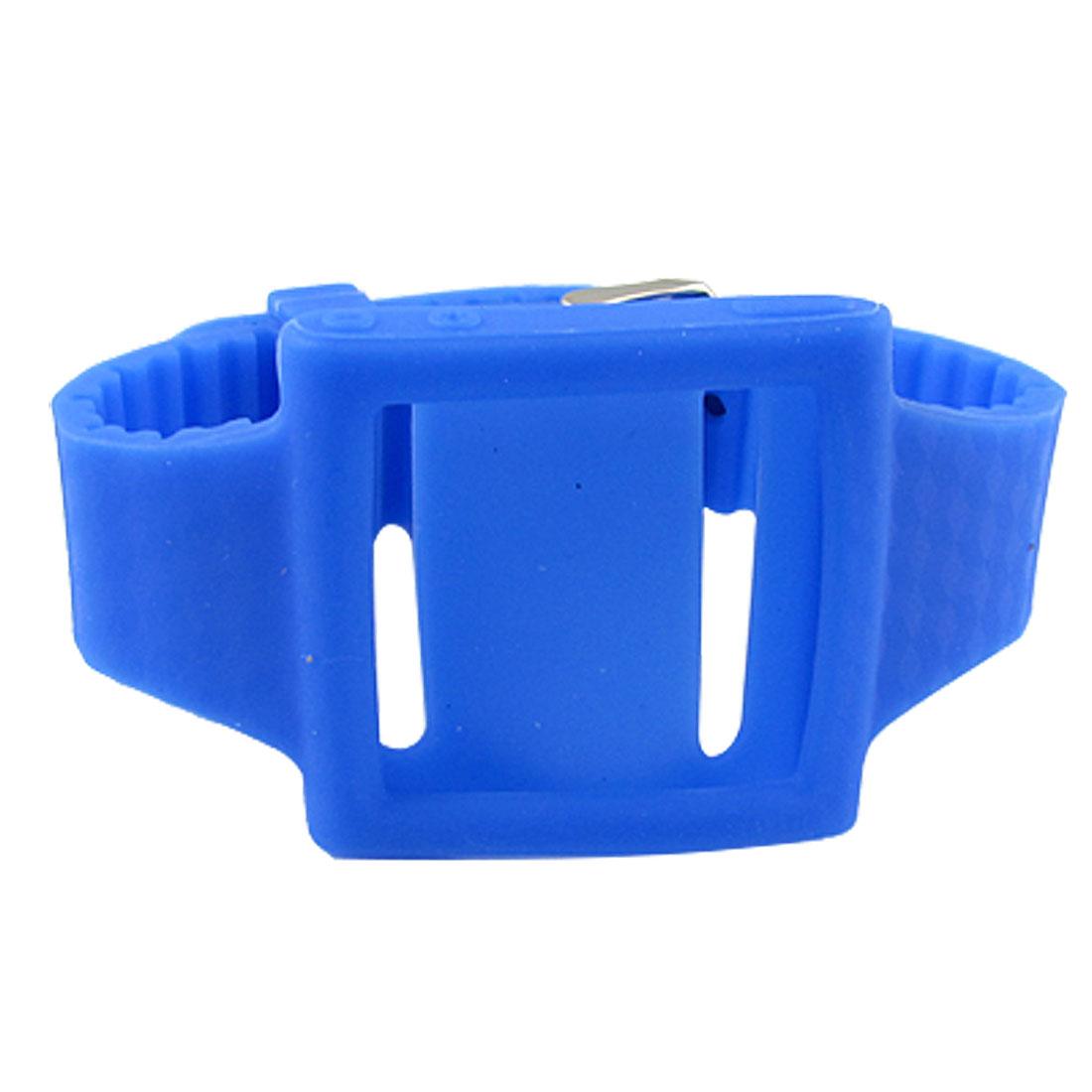 Royalblue Soft Silicone Wrist Band Case for iPod Nano 6