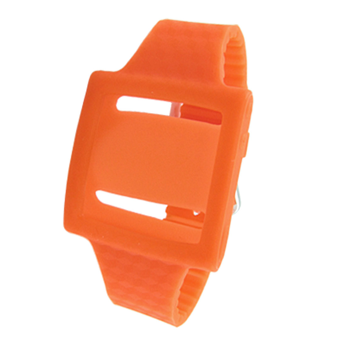 Watch Style Orange Silicone Wrist Case for iPod Nano 6
