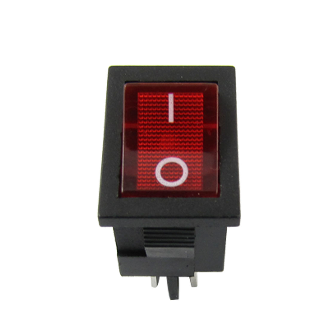 Red Light Illuminated DPST ON-OFF Snap in Boat Rocker Switch 6A/250V 10A/125V AC