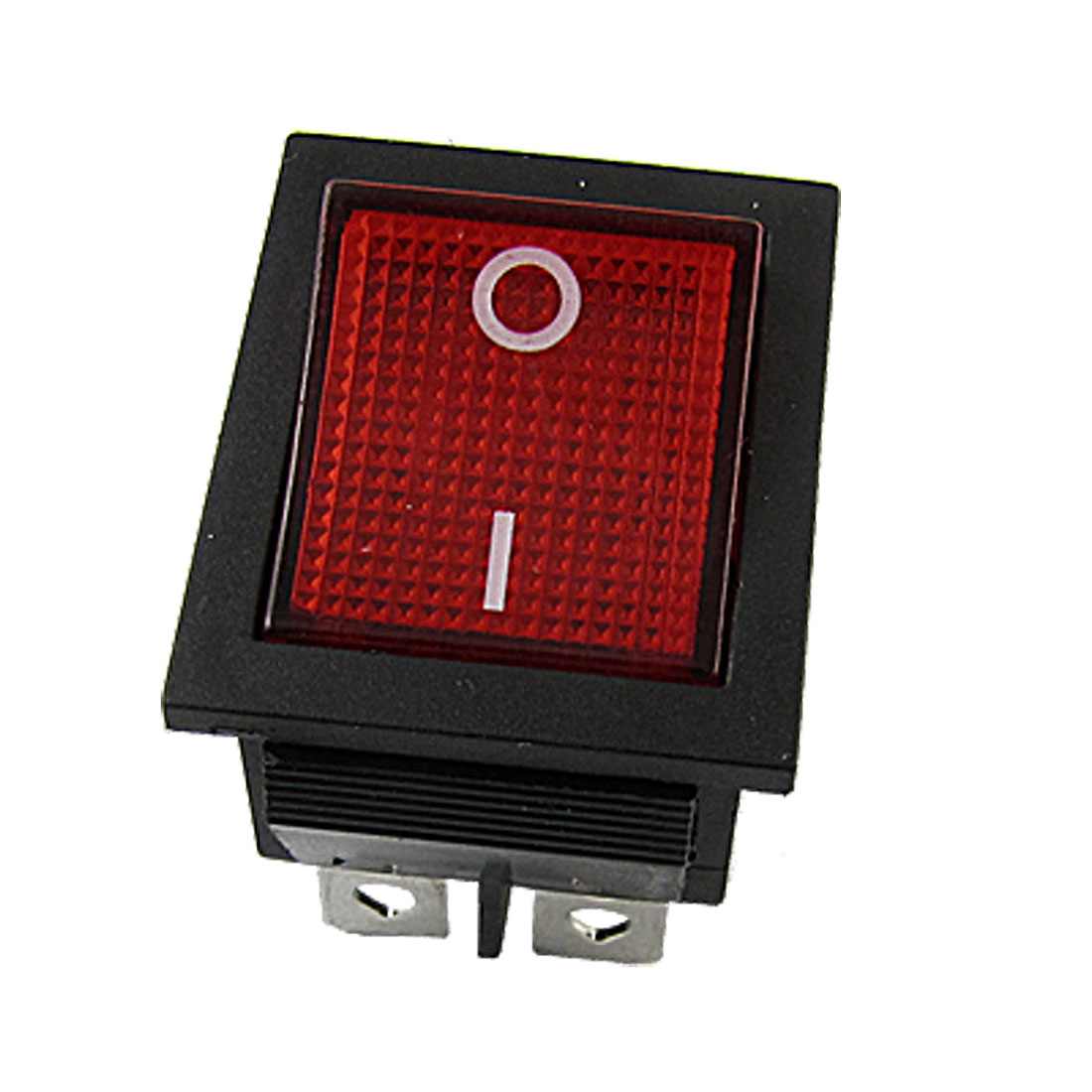 Red Light Illuminated 6 Pin DPDT ON-ON Snap in Boat Rocker Switch 20A/125V 16A/250V AC