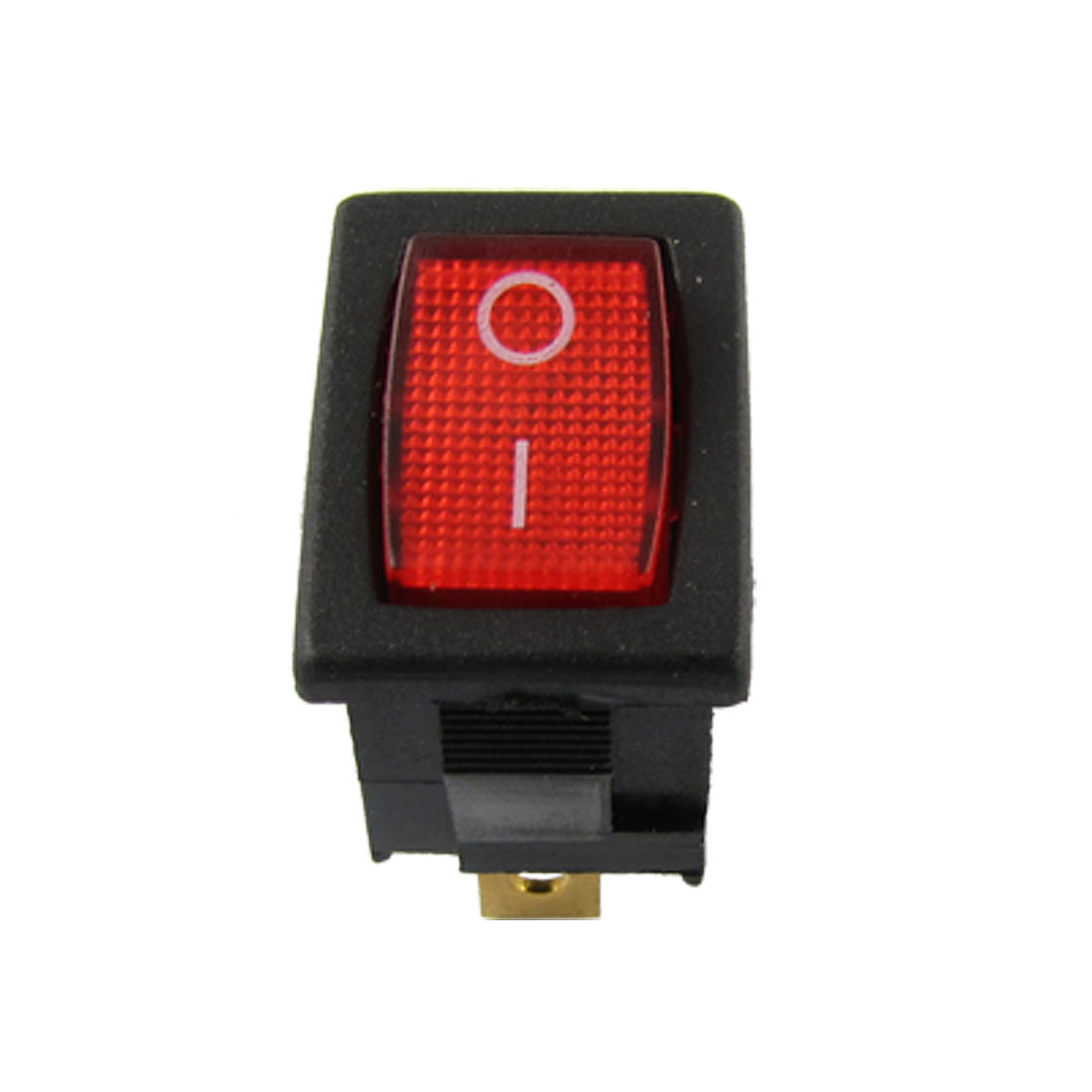 AC 6A/250V 10A/125V Red Light Illuminated ON-OFF SPST Snap in Boat Rocker Switch