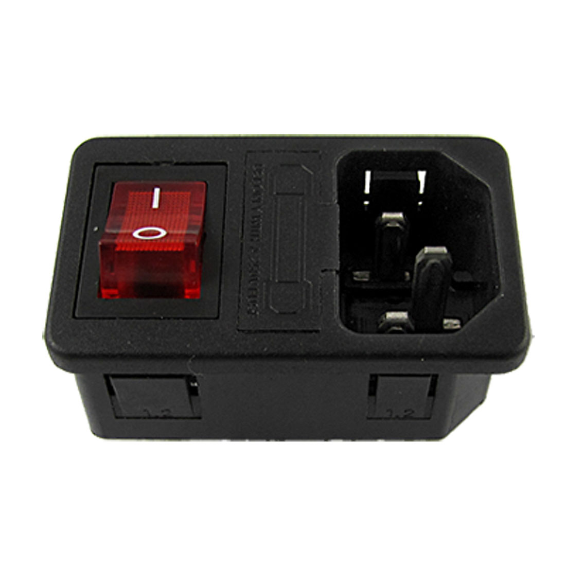 E60320 C14 Power Supply Connector Adapter W Red LED Switch