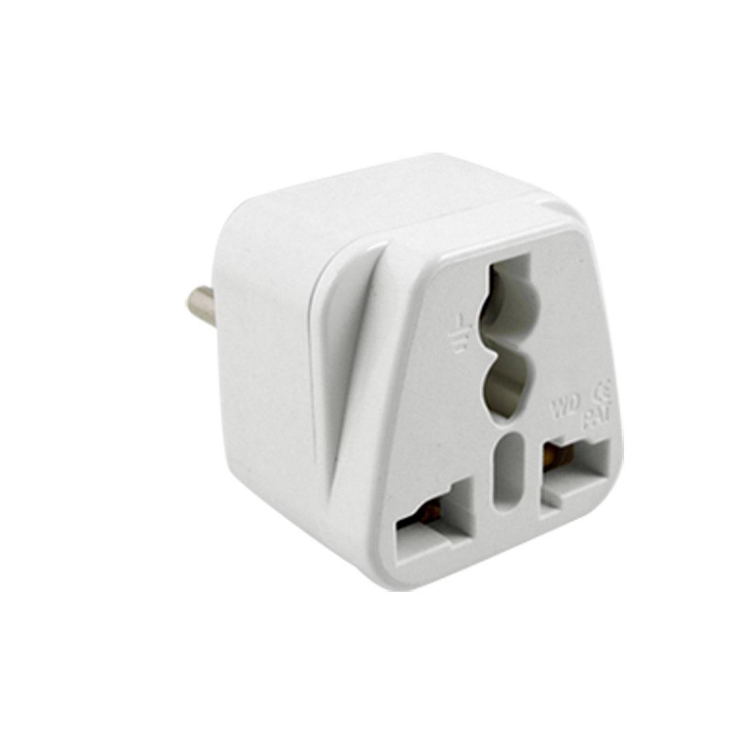 3-Pin Italy Type Plug to UK US AC 250V Travel Power Adapter