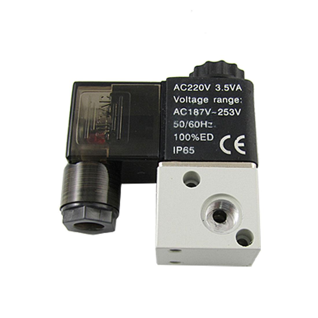 AC220V 3V1-06 Electromagnetic 2 Position 3 Way Solenoid Valve
