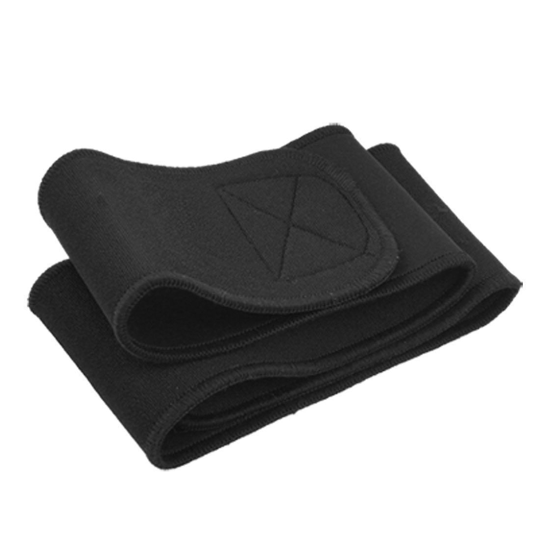 Unisex Black Neopreno Hook and Loop Fastener Waist Band Support Guard