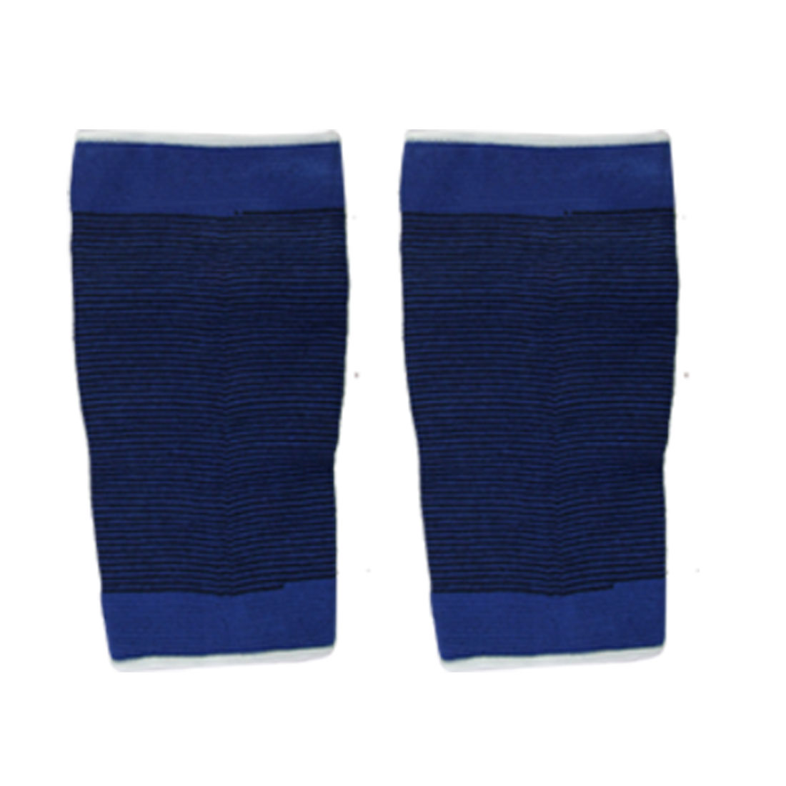 Blue Stripe Closed Patellar Knee Wrap Sport Support 2 PCS