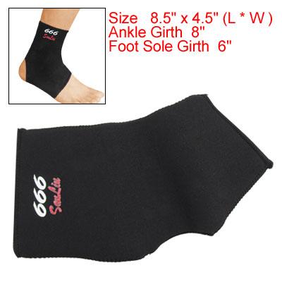 Right Ankle Foot Sleeve Brace Neoprene Sport Protector Black