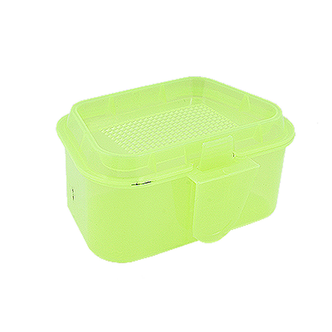 Hard Plastic Yellow Green Trapezoid Fishing Lure Bait Case