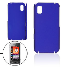Dark Blue Rubberized Hard Plastic Back Case for Samsung S5230 5233