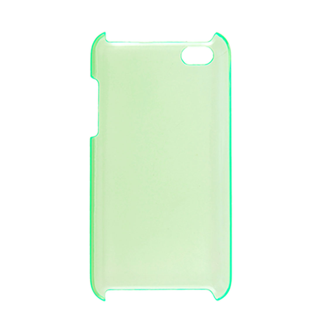 Clear Green Hard Plastic Case Cover for iPod Touch 4G
