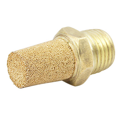 "Sintered Bronze Pneumatic Air Exhaust Silencer Muffler 1/4""PT"