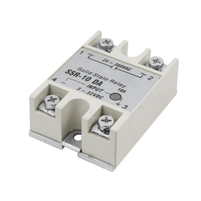 SSR-10DA LED Indicator 24-380VAC Solid State Relay Gray