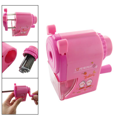 Chicks Print Manual Fuchsia Pencil Sharpener w L Handle