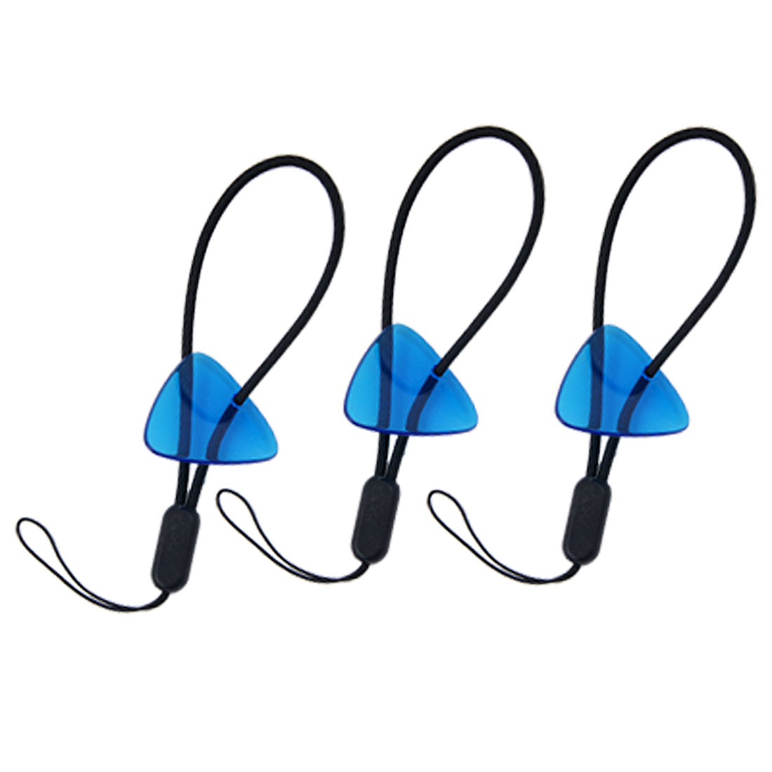 3 PCS Clear Blue Plastic Stylus Guitar Picks Strap Charm for Nokia Game